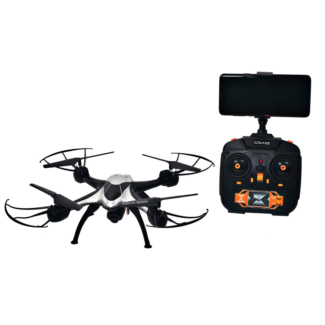 Craig CRT727CW 2.4GHz 4-Channel Wi-Fi Camera Drone in White