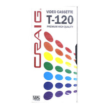 Load image into Gallery viewer, Craig CC358 Premium Blank T-120 VHS Video Tapes, 3-Pack