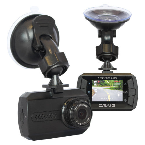 Craig CCR9035 Dash Cam with 1080p High Resolution and 1.5