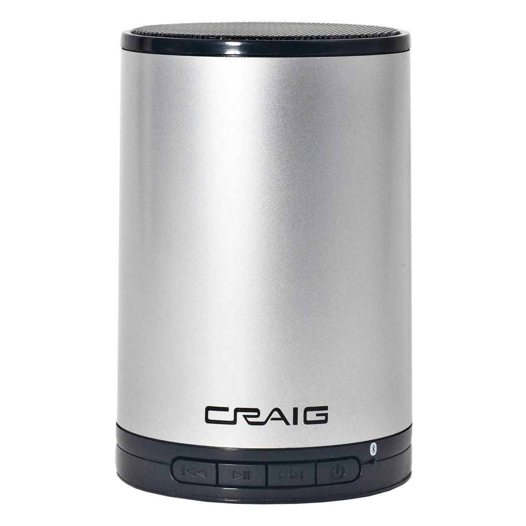 Craig CMA3692 Portable Bluetooth Stereo Speaker with in Silver and Black