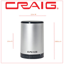 Load image into Gallery viewer, Craig CMA3692 Portable Bluetooth Stereo Speaker with in Silver and Black