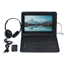 Load image into Gallery viewer, Craig CMP840 BUN-BK-HD Quad Core 10.1 in. Tablet with Keyboard Case and Headphones in Black
