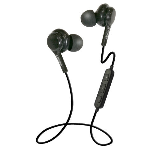 Magnavox MBH552-BK In-Ear Bluetooth Stereo Ear Buds with Microphone in Black