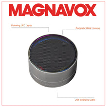 Load image into Gallery viewer, Magnavox MMA3652-GY Portable Bluetooth Speaker with Color Changing Rim in Grey