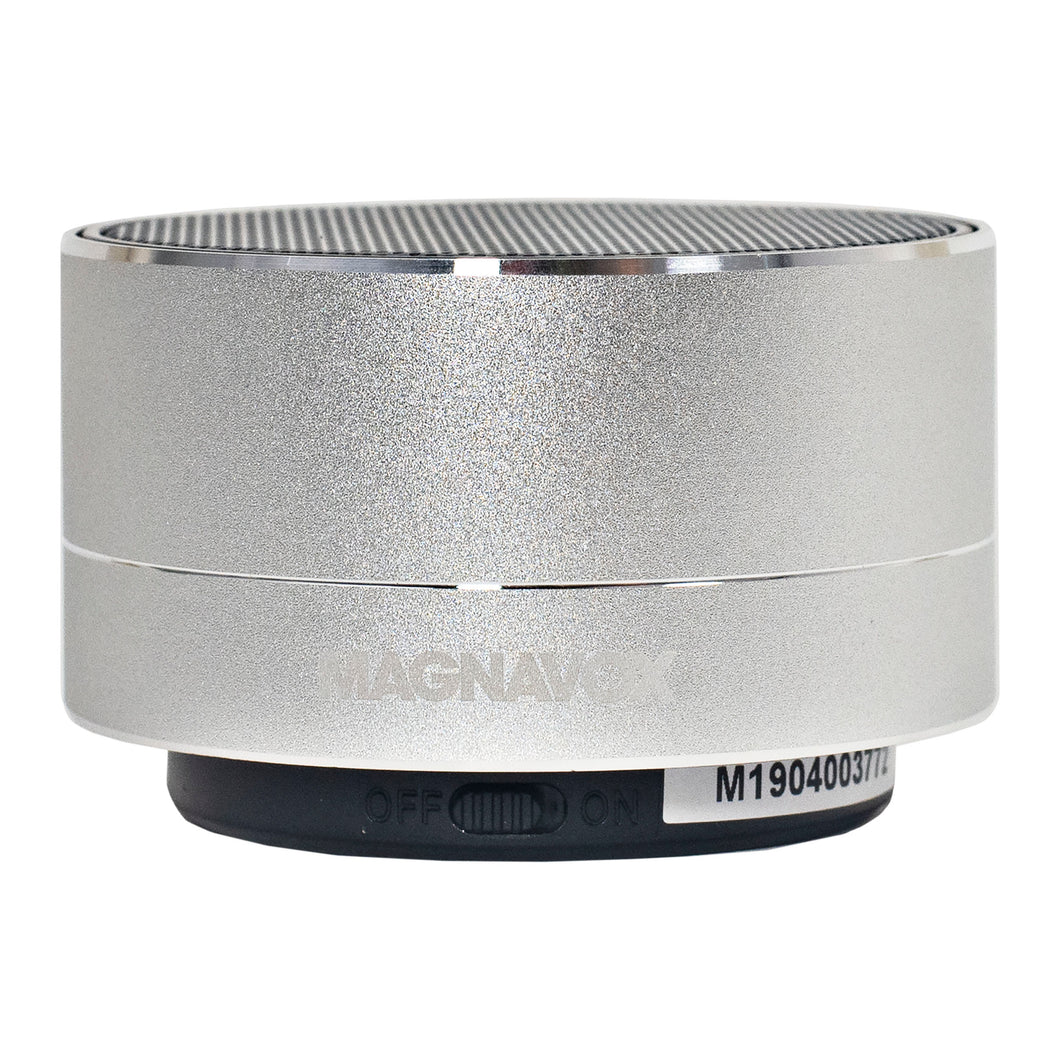 Magnavox MMA3652-SL Portable Bluetooth Speaker with Color Changing Rim in Silver