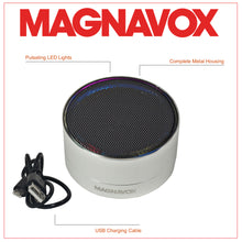 Load image into Gallery viewer, Magnavox MMA3652-SL Portable Bluetooth Speaker with Color Changing Rim in Silver