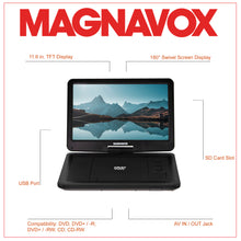 Load image into Gallery viewer, Magnavox MTFT754 Portable 11.6 Inch TFT Swivel Screen DVD/CD Player in Black