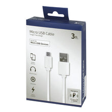 Load image into Gallery viewer, Craig NMA3401 3ft Micro USB to USB Charging Cable in White