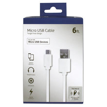 Load image into Gallery viewer, Craig NMA3401B 6ft Micro USB to USB Charging Cable in White