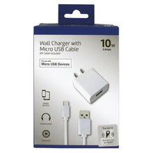 Load image into Gallery viewer, Craig NMA3513B Wall Charging Block with 6ft Micro USB to USB Cable in White