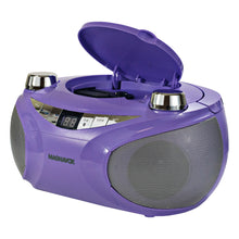 Load image into Gallery viewer, Magnavox MD6949-PL Portable CD Boombox with AM/FM Radio and Bluetooth in Purple