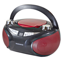 Load image into Gallery viewer, Magnavox MD6949 Portable CD Boombox with AM/FM Radio and Bluetooth in Red and Black