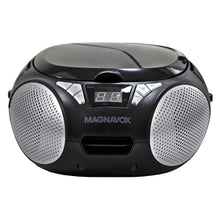 Load image into Gallery viewer, Magnavox MD6924 Portable Top Loading CD Boombox with AM/FM Stereo Radio in Black