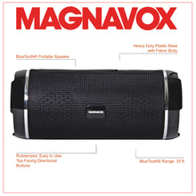 Load image into Gallery viewer, Magnavox MMA3762-BK Portable Bluetooth Horizontal Stereo Speaker in Black
