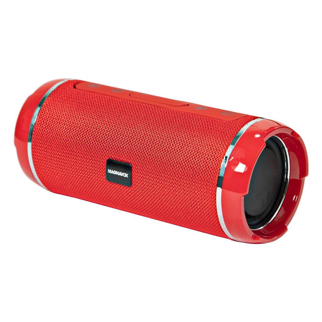 Magnavox MMA3762-RD Portable Bluetooth Horizontal Stereo Speaker in Red