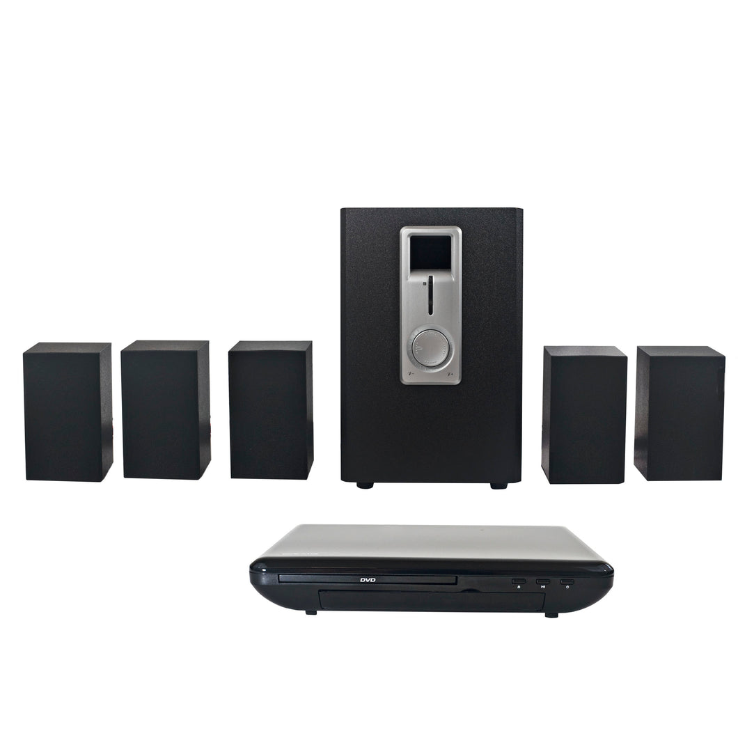 Craig CHT755 Home Theater 5.1 Channel Audio Output System with DVD Player in Black