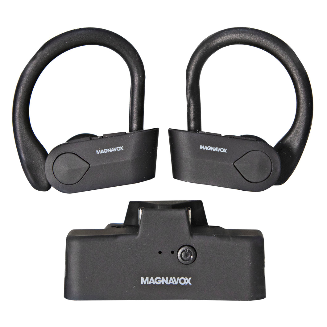 Magnavox MBH583 Bluetooth Stereo Ear Buds with Microphone in Black