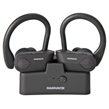 Load image into Gallery viewer, Magnavox MBH583 Bluetooth Stereo Ear Buds with Microphone in Black