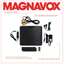 Load image into Gallery viewer, Magnavox MTFT716N-BK Portable 7 Inch TFT Swivel Screen DVD/CD Player in Black