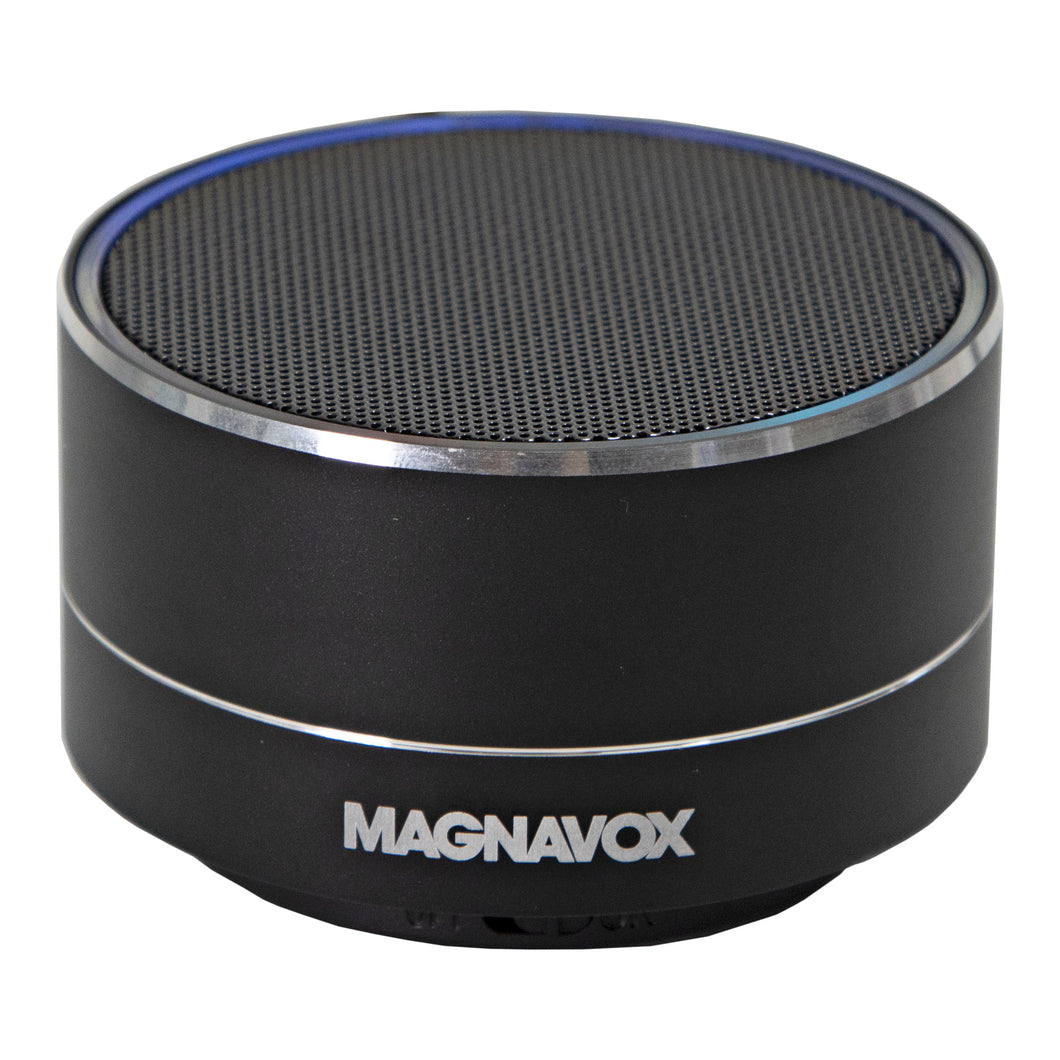 Magnavox MMA3652-BK Portable Bluetooth Speaker with Color Changing Rim in Black