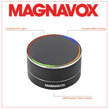 Load image into Gallery viewer, Magnavox MMA3652-BK Portable Bluetooth Speaker with Color Changing Rim in Black