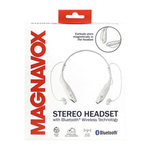 Load image into Gallery viewer, Magnavox MBH513-WH In-Ear Bluetooth Stereo Ear Buds with Microphone in White
