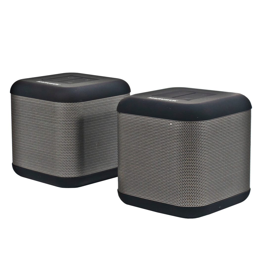 Magnavox MMA3627 Bluetooth DSP Speakers with Dual Operation Mode in Silver and Black