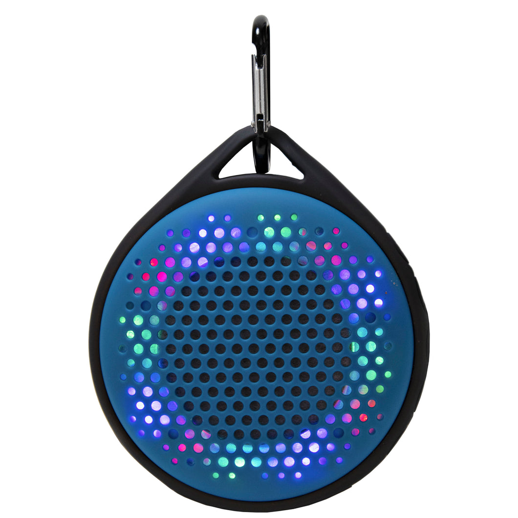 Magnavox MMA3623-BL Waterproof Bluetooth Speaker with Color Changing Lights in Blue
