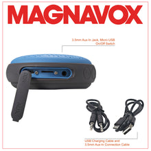 Load image into Gallery viewer, Magnavox MMA3623-BL Waterproof Bluetooth Speaker with Color Changing Lights in Blue