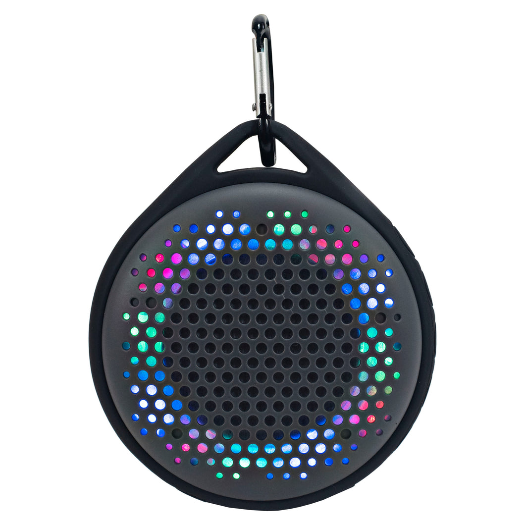 Magnavox MMA3623-GY Waterproof Bluetooth Speaker with Color Changing Lights in Grey