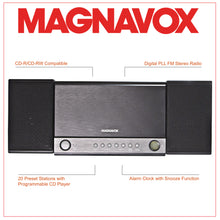 Load image into Gallery viewer, Magnavox MM444BT 3-Piece CD Shelf System with FM Radio and Bluetooth in Grey