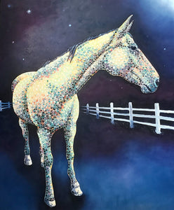 Ruby In The Barnyard At Night - 60x72