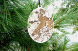 Madden's on Gull Lake Wood Etch Ornament