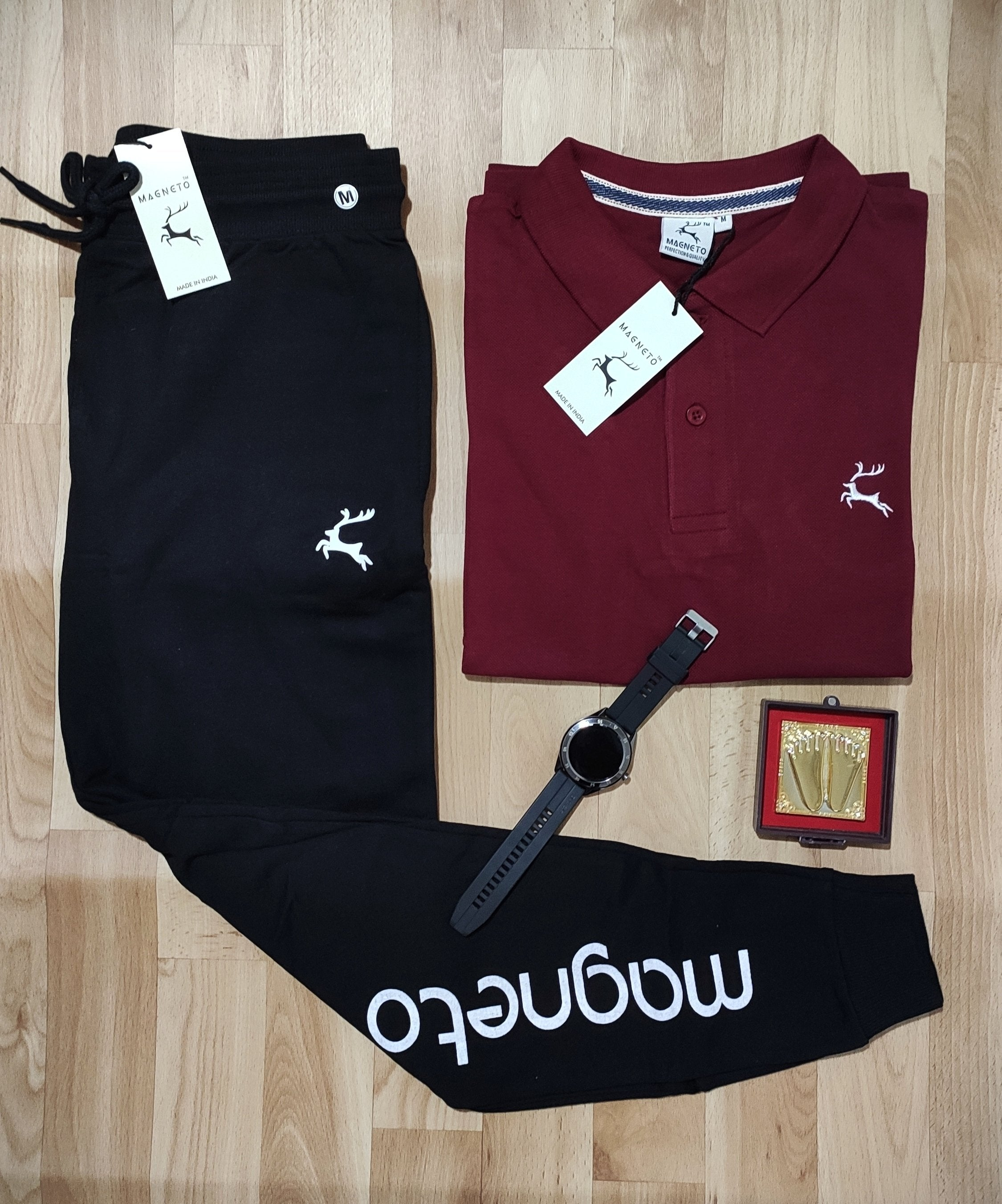 Stylist Combo Of polo T-shirt and Trackpent-marron special