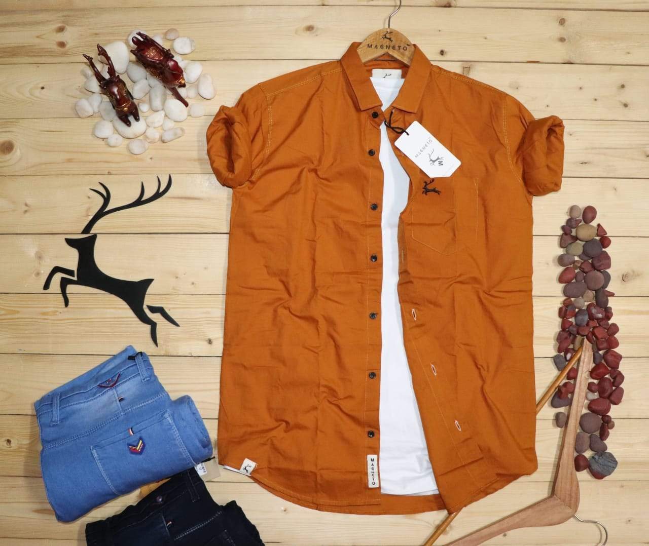 "Men's shirt 100% cotton hevy quality-""CINNAMON EDITION"""