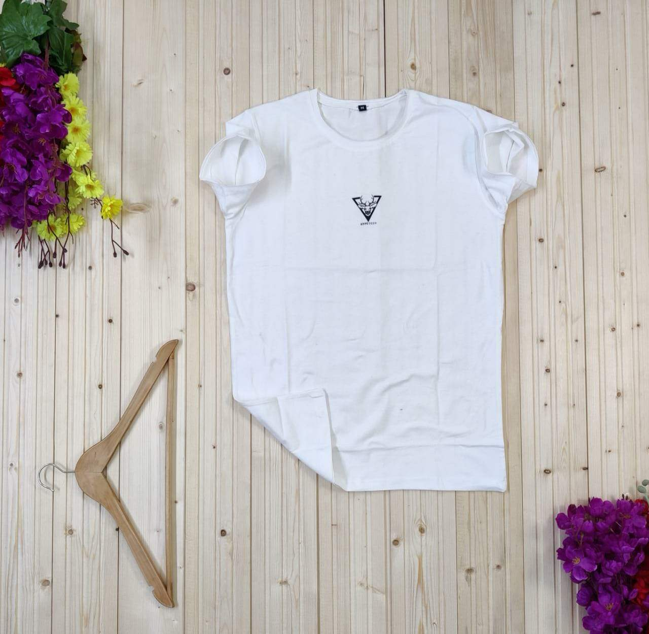 ULTRA SOFT- T-shirt  white gold adition