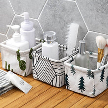 Load image into Gallery viewer, Foldable storage basket, cute print cosmetic, versatile