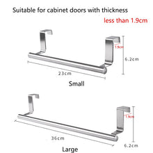 Load image into Gallery viewer, Stainless Steel Towel Rack Bathroom Towel Holder Stand Kitchen Cabinet Door Hanging Organizer Shelf Wall Mounted Towels Bar