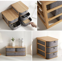 Load image into Gallery viewer, Bamboo Wood Desktop Storage Box