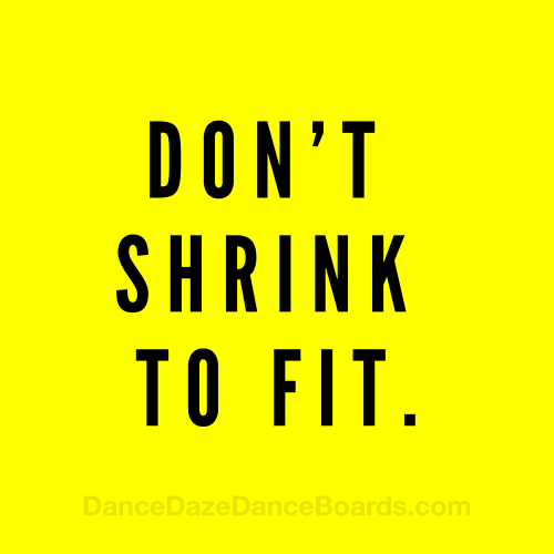 Don't Shrink to Fit