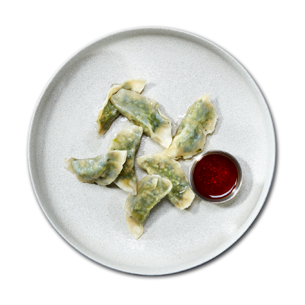 Load image into Gallery viewer, STEAMED SPINACH + SHIITAKE DUMPLINGS