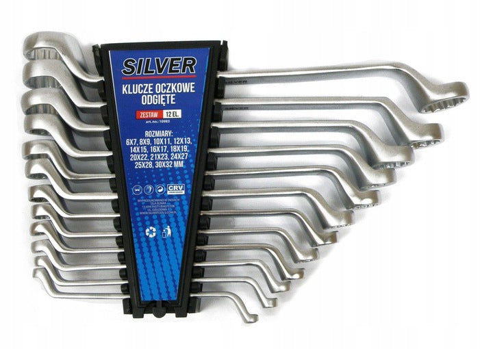 ANGLED RING WRENCHES 12el 6-32mm SET.