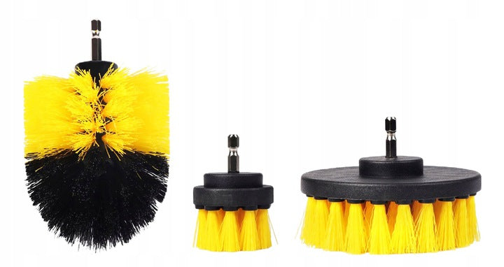 CLEANING BRUSHES FOR DRILL 1/4 -3x