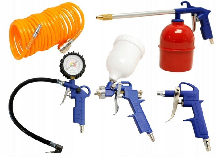PNEUMATIC SET 5 PCS. COAT FOR PAINTING