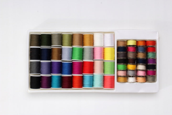 SET OF SPOOLS OF THREAD FOR SEWING MACHINE 60 PCS