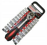 SET OF SOCKET WRENCHES WITH RATCHET 19 pcs. 8-32