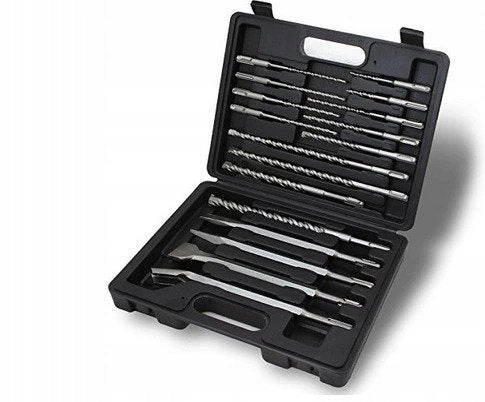 SDS DRILL AND CHISEL SET FOR CONCRETE 17-PIECE