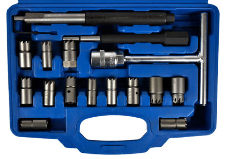 Injector socket cutters set 17 pcs
