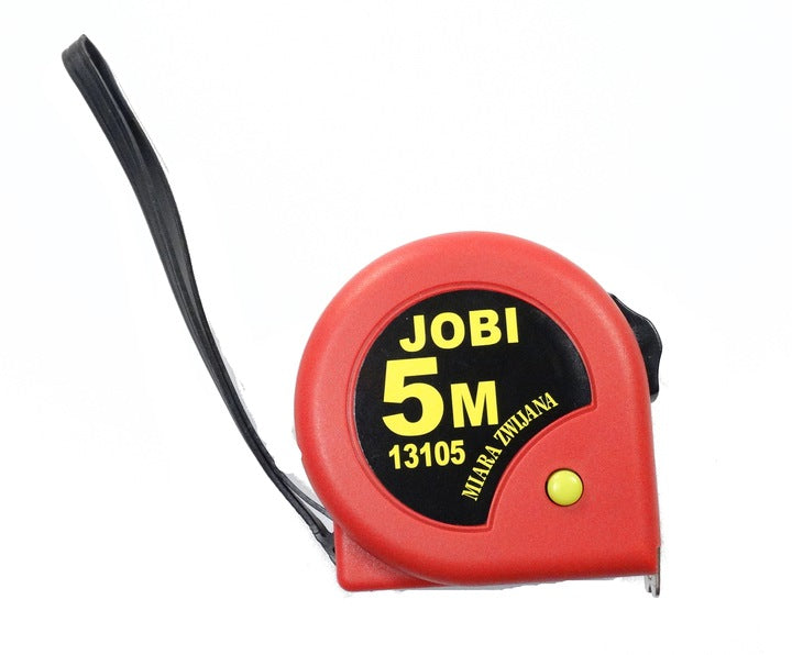 MEASURE ROLLED TAPE JOBI 5M x 19MM PACK. 24 pcs.