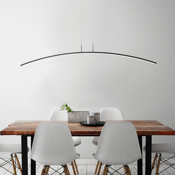 Lights of Scandinavia - Horizon - Remote control Modern LED Pendant Lights For study Kitchen Dining Living Room Cord Hanging Lustre Indoor Lamps Input AC90-260V  1. Cool White / Warm White --- No Remote Control,Only one color  2. Brightness Dimmable----- With Remote Control (It can adjust light color from cool white to warm white, and can adjust brightness from weak to strong)  3.   Voltage: 110v/120V/130V/220V/230V/240V All can use  4. Size: 120cm 24w    5. Remote Control Means Brightness + Color Temperature  6. Light source Included or Not: Yes     Cool White no remote: Only one color(6000K-6500K) ,No remote  Warm White no remote: Only one color(3000K-3500K) ,No remote  Brightness Dimmale: Have Cool white,natural white,Warm White. Include a remote